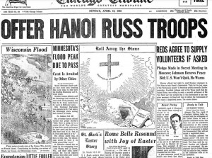 Easter 1965 Chicago Tribune Front Page 3