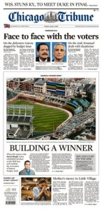 Easter 2015 Chicago Tribune Front Page